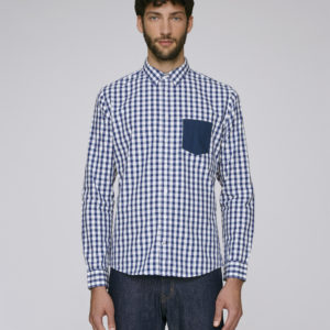 Stanley_Impresses_Pocket_White_Blue_Check_Mid_Navy_Studio_Front_Main_ adegem la fibre verte