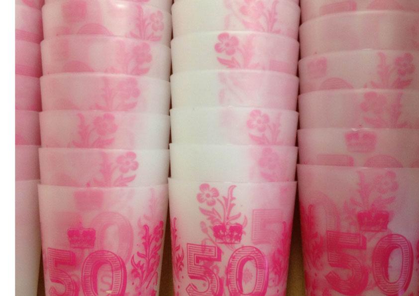 gobelet réutilisable impression 1 couleur, fabrication française