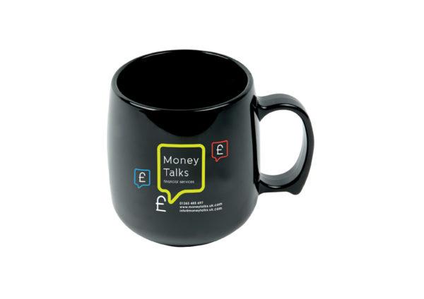 mug classique noir en plastique recyclé