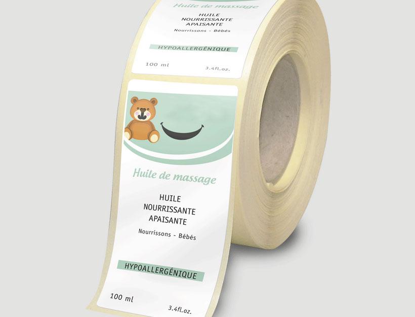 Etiquette polyéthylène blanc brilliant adegem la fibre verte copie