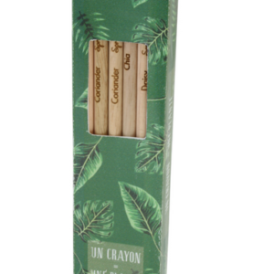 3 crayons de couleur a graines Adegem La Fibre Verte