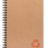 Cahier à spirale recyclé Adegem La Fibre Verte