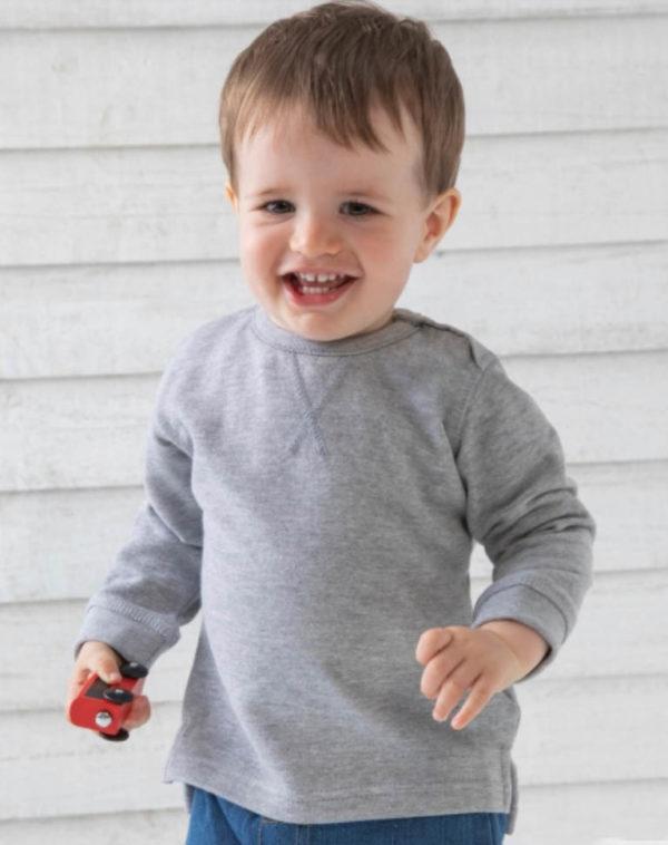 Sweatshirt bebe heather grey Adegem La Fibre Verte
